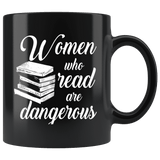 """Women who read""11oz black mug - Gifts For Reading Addicts"