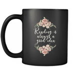 """Reading""11oz black mug - Gifts For Reading Addicts"