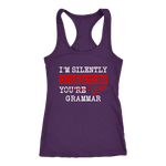 """I'm Silently Correcting Your Grammar"" Women's Tank Top - Gifts For Reading Addicts"
