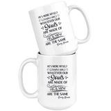 """He's more myself than i am""15oz white mug - Gifts For Reading Addicts"