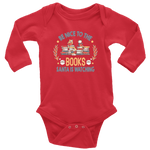 """Be Nice To The Books""Long Sleeve Baby Bodysuit - Gifts For Reading Addicts"