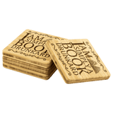 """A Book Drunkard""Bookish Bamboo Coaster - Gifts For Reading Addicts"