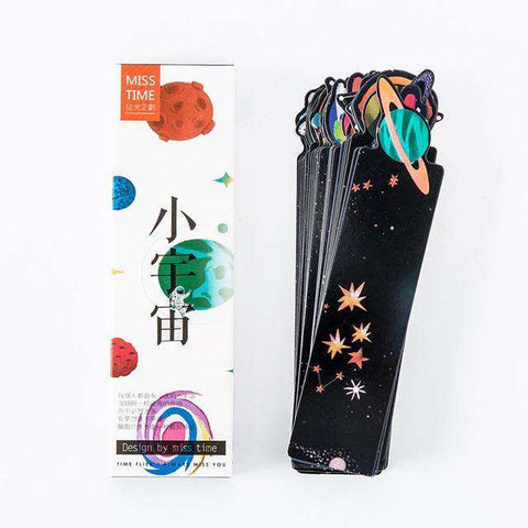 30Pcs/Set Galaxy Bookmarks