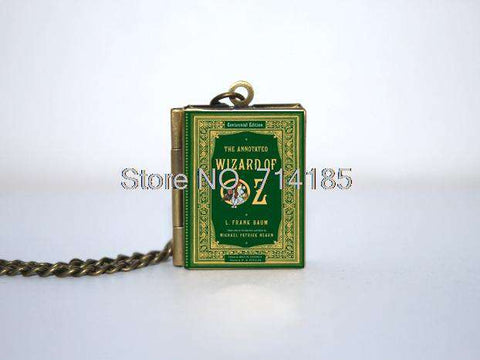 The Wizard of Oz Book cover Locket Necklace keyring