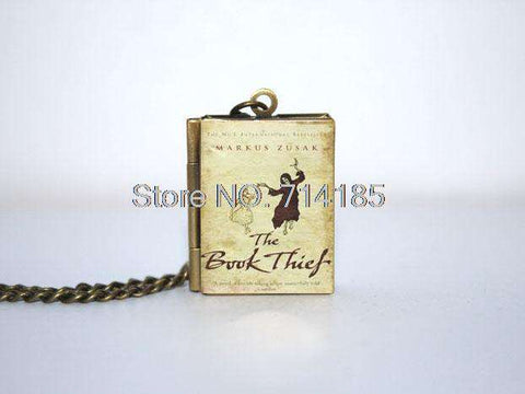 The Book Thief Book Cover Locket Necklace keyring