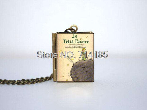 Le Petit Prince Book Cover Locket Necklace keyring