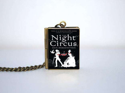 The Night Circus Book Cover Locket Necklace keyring - Gifts For Reading Addicts