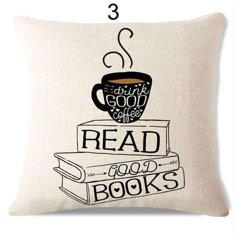 Bookish Quotes Cushion Covers, Color - S130-For Reading Addicts