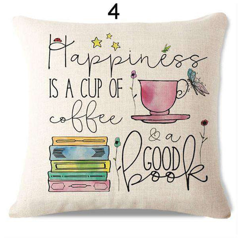 Bookish Quotes Cushion Covers, Color - S131-For Reading Addicts