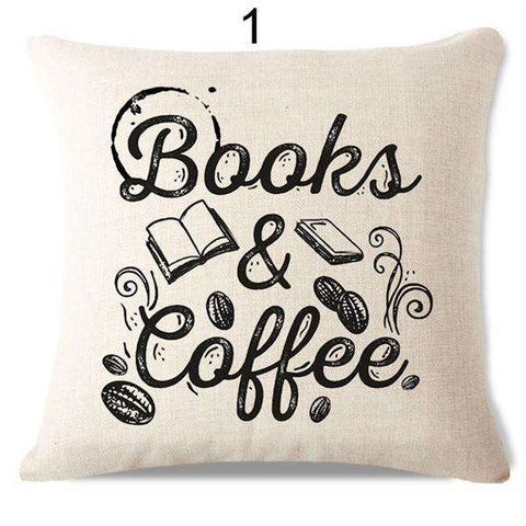 Bookish Quotes Cushion Covers, Color - S133-For Reading Addicts
