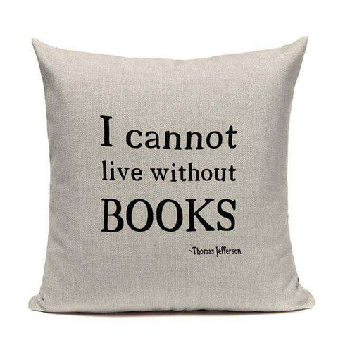 Bookish Quotes Cushion Covers, Color - TC10 - Gifts For Reading Addicts