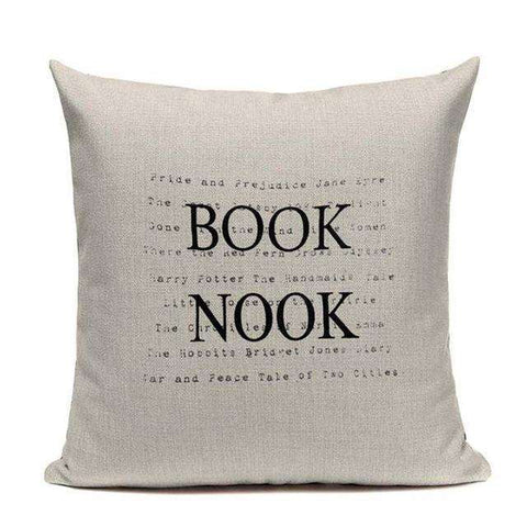 Bookish Quotes Cushion Covers, Color - TC11-For Reading Addicts