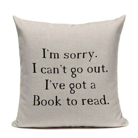 Bookish Quotes Cushion Covers, Color - TC12-For Reading Addicts