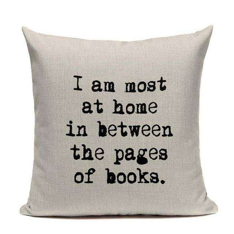 Bookish Quotes Cushion Covers, Color - TC13-For Reading Addicts