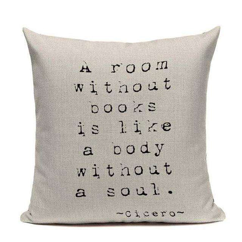 Bookish Quotes Cushion Covers, Color - TC14-For Reading Addicts