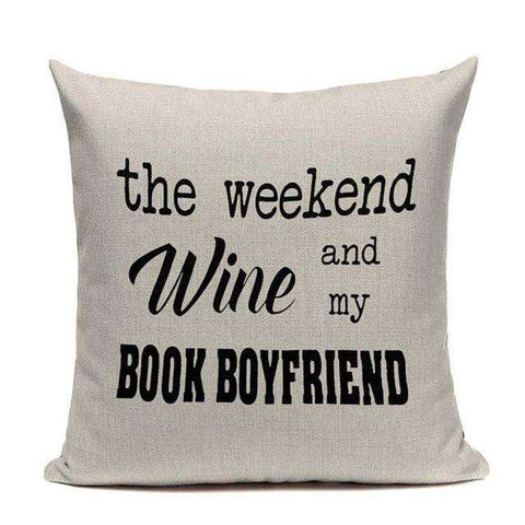 Bookish Quotes Cushion Covers, Color - TC16-For Reading Addicts