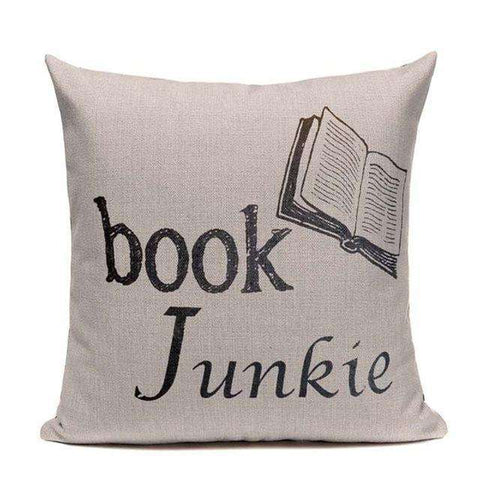 Bookish Quotes Cushion Covers, Color - TC18-For Reading Addicts