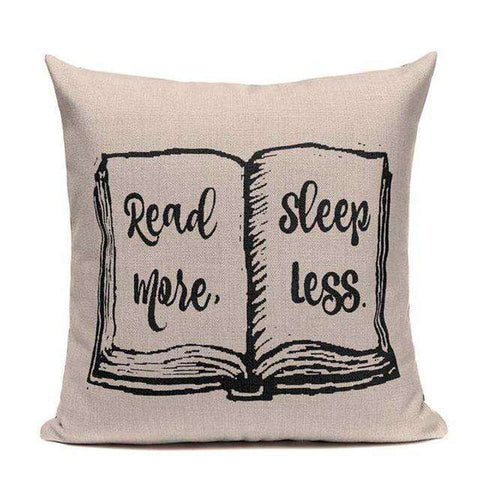 Bookish Quotes Cushion Covers, Color - TC20-For Reading Addicts