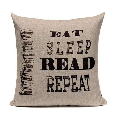 Bookish Quotes Cushion Covers, Color - TC24-For Reading Addicts