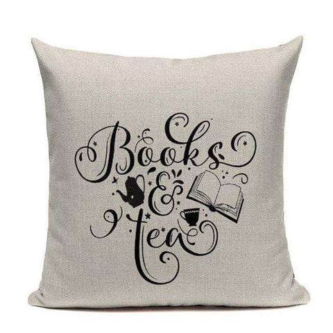 Bookish Quotes Cushion Covers, Color - TC32-For Reading Addicts