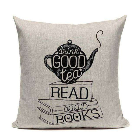 Bookish Quotes Cushion Covers, Color - TC39-For Reading Addicts