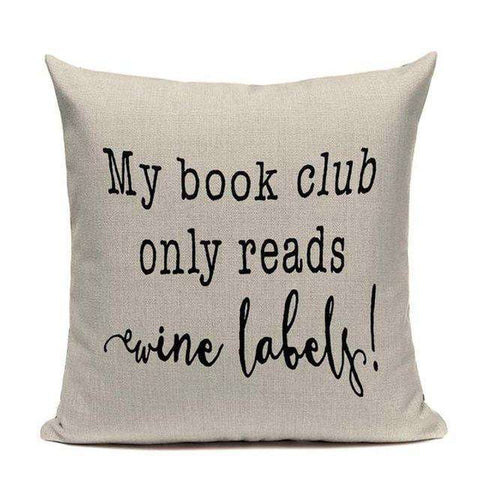 Bookish Quotes Cushion Covers, Color - TC8-For Reading Addicts