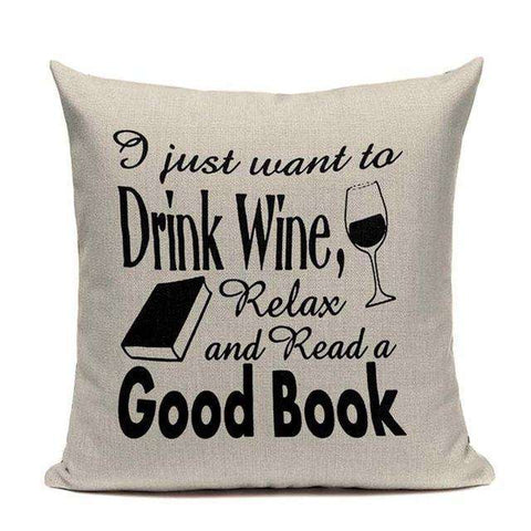 Bookish Quotes Cushion Covers, Color - TC9-For Reading Addicts