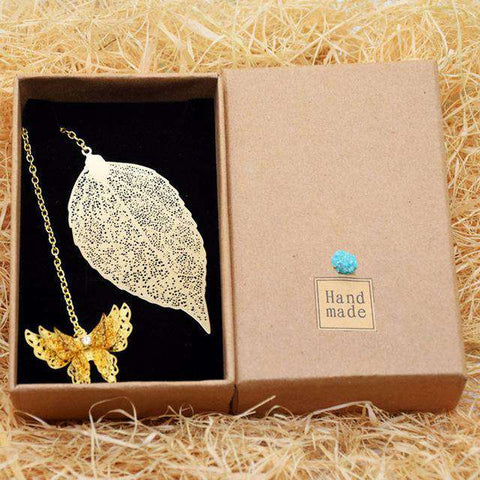 Metal Tree Leaf Bookmarks - Gifts For Reading Addicts
