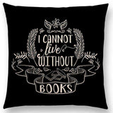 Bookish Quotes Cushion Covers, Color - a022503-For Reading Addicts