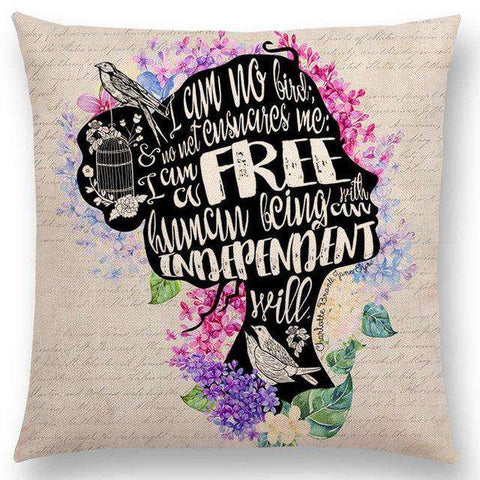 Bookish Quotes Cushion Covers, Color - a022504-For Reading Addicts