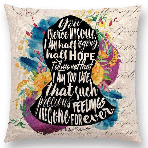 Bookish Quotes Cushion Covers, Color - a022507-For Reading Addicts