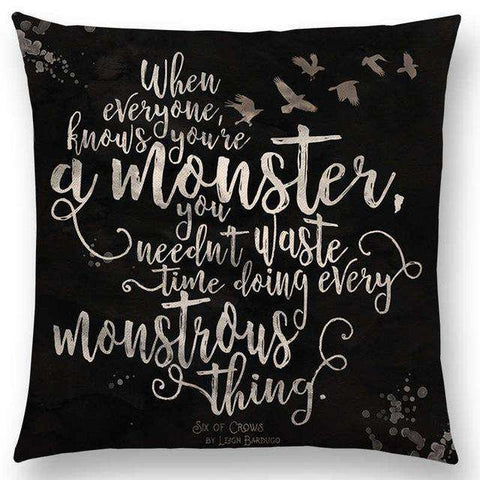 Bookish Quotes Cushion Covers, Color - a022508-For Reading Addicts