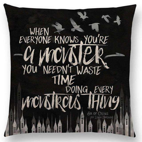 Bookish Quotes Cushion Covers, Color - a022509-For Reading Addicts