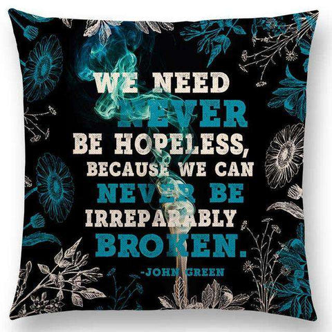 Bookish Quotes Cushion Covers, Color - a022516-For Reading Addicts