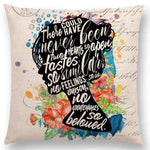 Bookish Quotes Cushion Covers, Color - a022518-For Reading Addicts