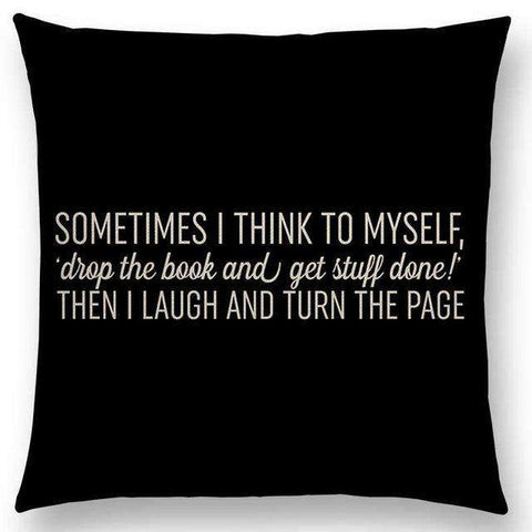 Bookish Quotes Cushion Covers, Color - a022524 - Gifts For Reading Addicts