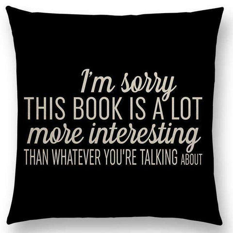 Bookish Quotes Cushion Covers, Color - a022525-For Reading Addicts