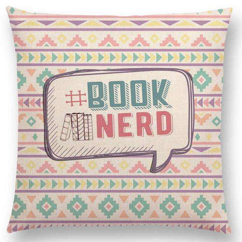Bookish Quotes Cushion Covers, Color - a022801-For Reading Addicts