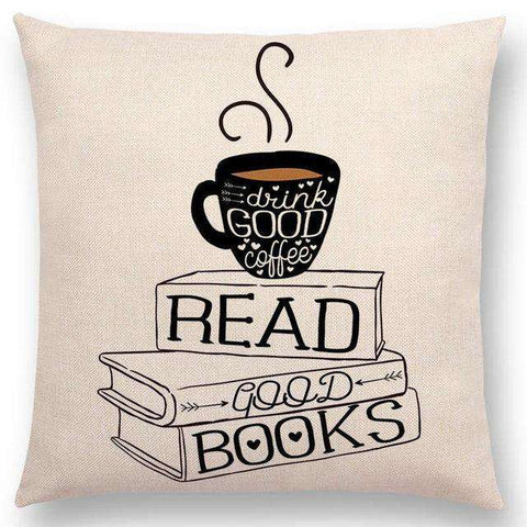 Bookish Quotes Cushion Covers, Color - a022802-For Reading Addicts