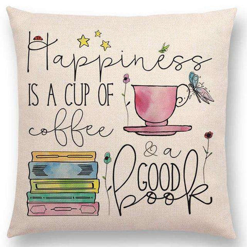 Bookish Quotes Cushion Covers, Color - a022804 - Gifts For Reading Addicts