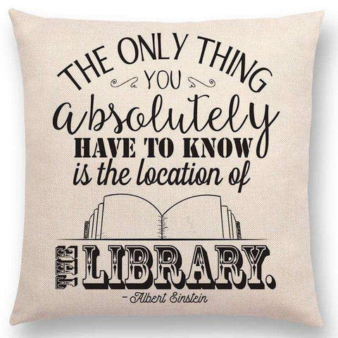 Bookish Quotes Cushion Covers, Color - a022806-For Reading Addicts