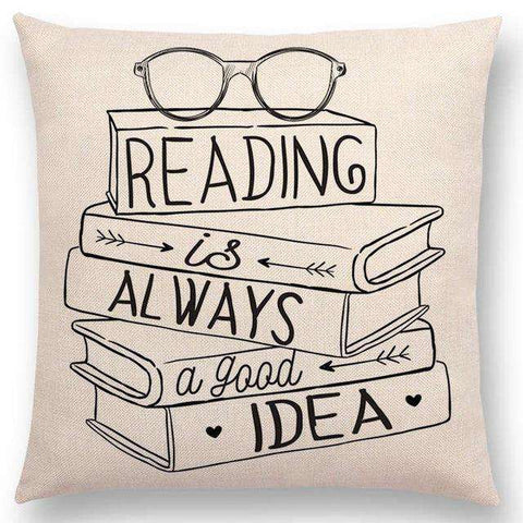 Bookish Quotes Cushion Covers, Color - a022807 - Gifts For Reading Addicts
