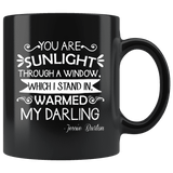 """You are sunlight""11oz black mug - Gifts For Reading Addicts"