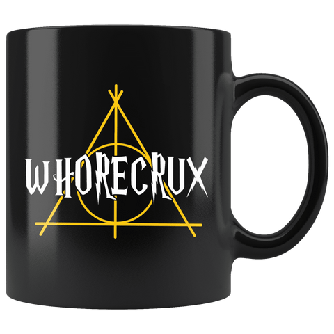 """Whorecrux""11oz Black Mug - Gifts For Reading Addicts"