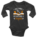 """All I Want For Christmas""Long Sleeve Baby Bodysuit - Gifts For Reading Addicts"