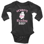 """Mommy's Reading Buddy""Long Sleeve Baby Bodysuit - Gifts For Reading Addicts"
