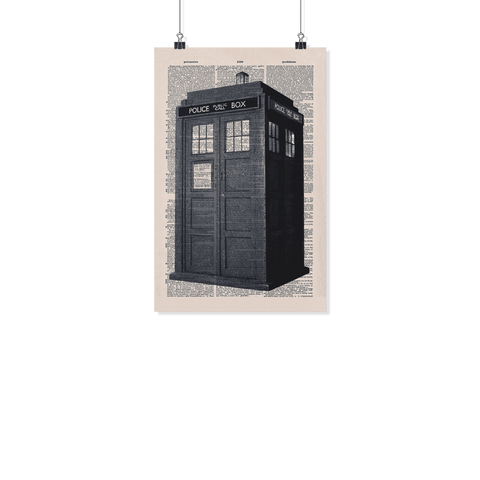 Doctor who tardis vintage dictionary poster - Gifts For Reading Addicts