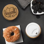 """I Read""Round Cork Coaster - Gifts For Reading Addicts"