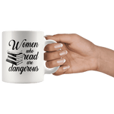 """Women who read""11oz white mug"