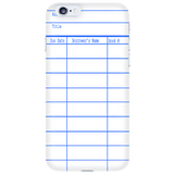 Library Card Phone Case White - Gifts For Reading Addicts